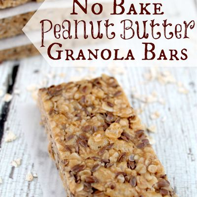 No Bake Peanut Butter Granola Bars Recipe - Key Ingredient