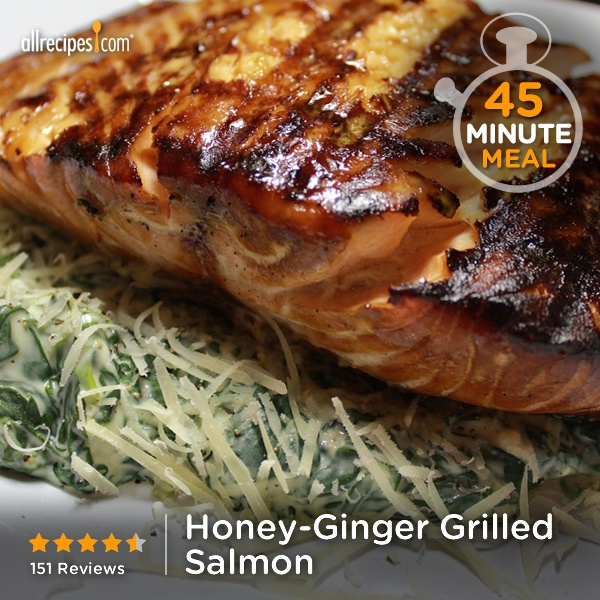 """Honey-Ginger Grilled Salmon 
