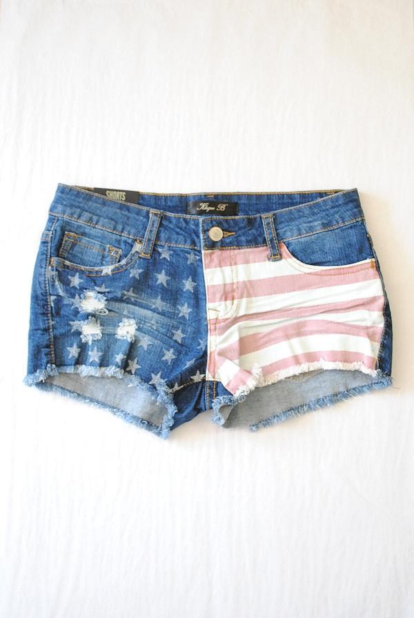 usa flag shorts