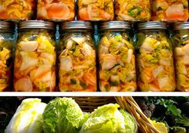 ... chili peppers per two heads of cabbage, so it's mighty spicy! #Kimchi