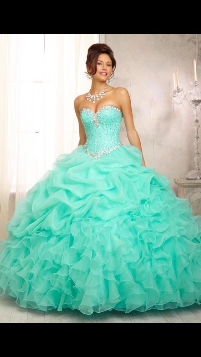 Quince dress tiffany blue | Quinceanera dresses | Pinterest