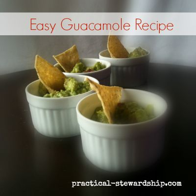 Easy and Tasty Guacamole Recipe - I doubled the amount of avacados ...