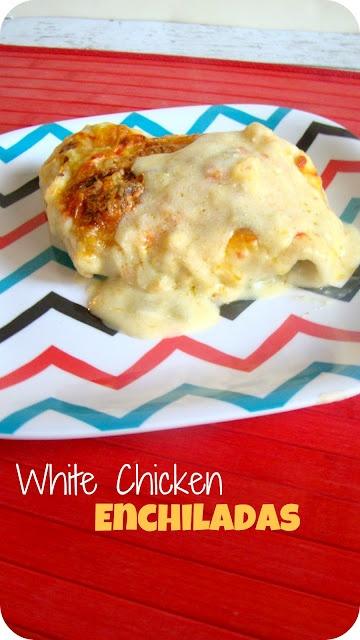 white chicken enchiladas | k i s s * t h e * c o o k | Pinterest