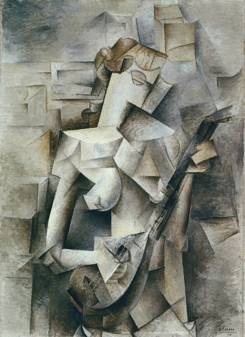 girl with a mandolin - pablo picasso 1910