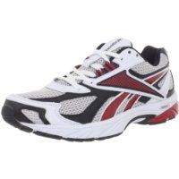 Reebok Men's Pheehan Running Shoe,Grey/White/Red/Black,9.5 M US $39.22