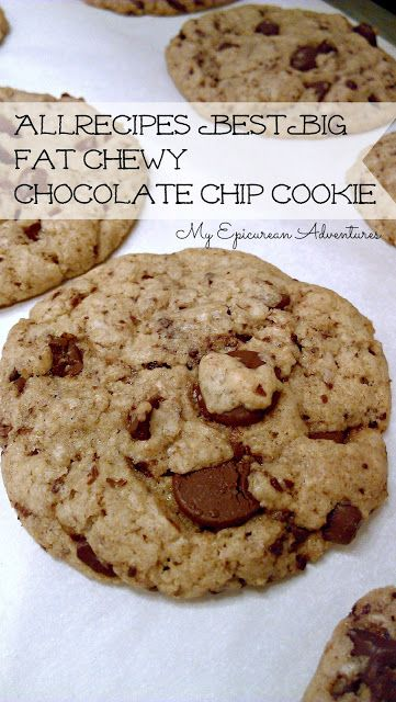 Best Big Fat Chewy Chocolate Chip Cookie | Food - Just Desserts | Pin ...