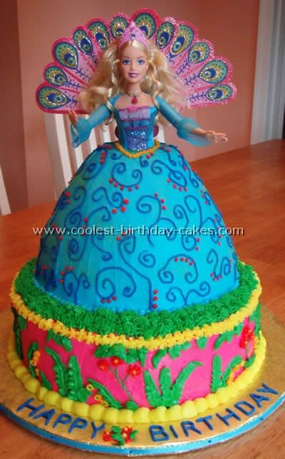Princess Peacock Cake... This website is the Pinterest of princess cake ideas