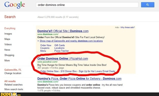 Order resume online dominos