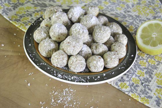 Lemon-Coconut Meltaways, HeartyHerbivore (almond flour, shredded ...