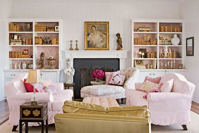 Pink gold living rooms pinterest - Pink and gold living room ...