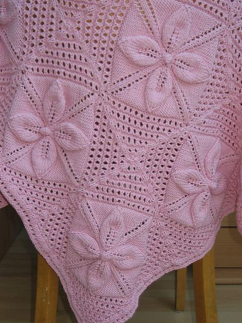 Ravelry Free Knitting Patterns For Baby Blankets : flower blanket Knit Pinterest