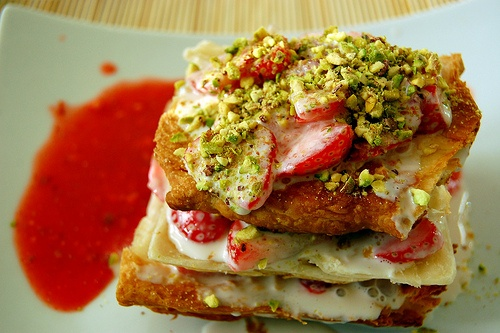 Strawberry millefeuille (a recipe can be found on the BBC)