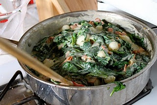 creamed spinach with onions and bacon | my recipes | Pinterest