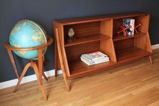 Mid-Century Modern Walnut Bookcase by Drexel