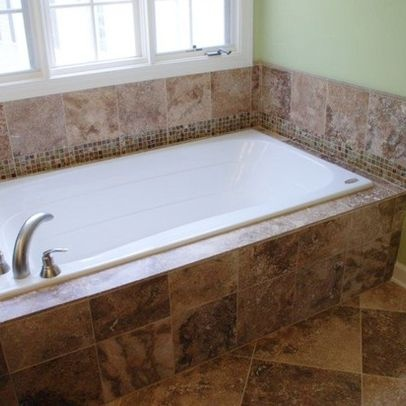 Tile around the tub bathroom pinterest for Tiling around a bath