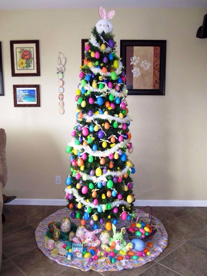Easter egg tree crafts decorating good ideas pinterest for Pinterest christmas decorations for the home