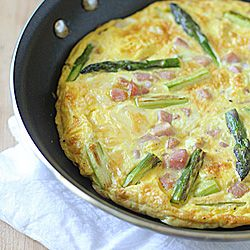Asparagus, Ham, and Cheddar Frittata | Recipes | Pinterest