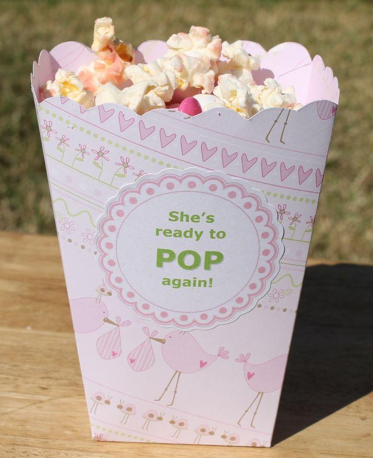 Popcorn box baby shower bonanza pinterest for Ready to pop popcorn boxes