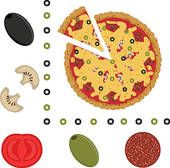 pizza topping clip art - Google Search | Kindergarten | Pinterest