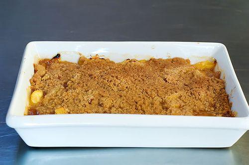Peach Crisp with Maple Cream Sauce | Recipe
