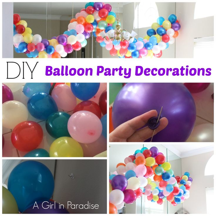 Diy balloon party decorations baylee 39 s 5th bday frozen for Balloon decoration ideas diy