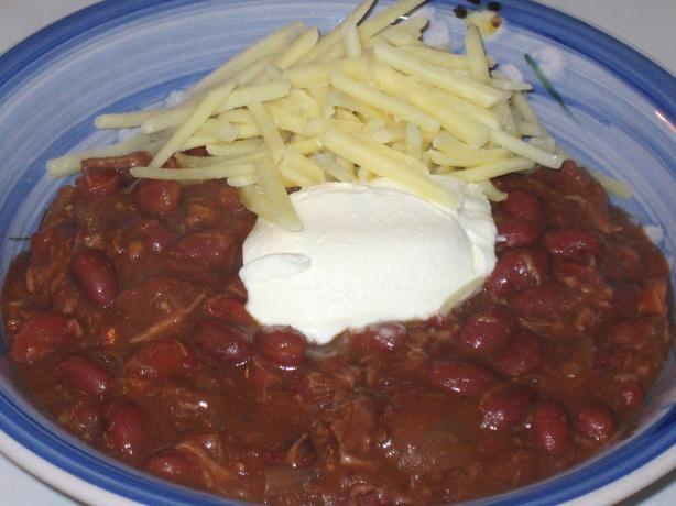 Crock Pot Ancho Chili With Beans Recipe — Dishmaps