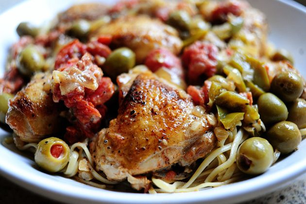 The Pioneer Woman, chicken with olives. Tried this once. Loved it ...