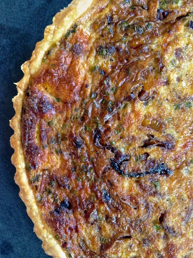 Caramelized Onion and Pancetta Quiche | Cupcakes & Cashmere