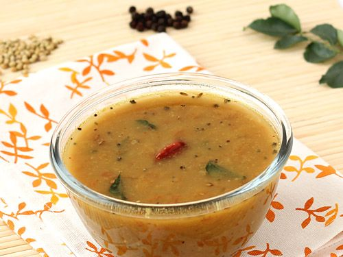 ... Rasam - Spicy Lentil Soup with Freshly Ground Spices and Coconut Milk