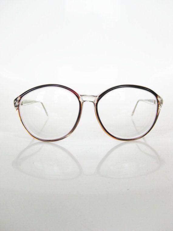 Vintage OVERSIZED Cat Eye Womens Glasses Eyeglasses ...