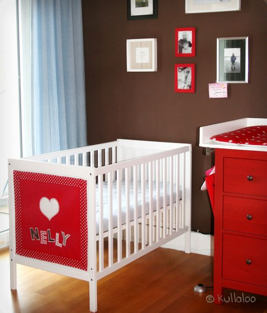 Ikea Poang Chair Metal Frame ~ IKEA SUNDVIK Babybett mit Namens Dekoration verschönern