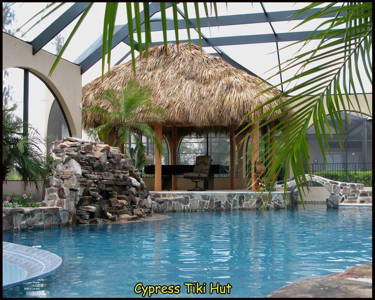 Tiki hut pool for Pool hut designs