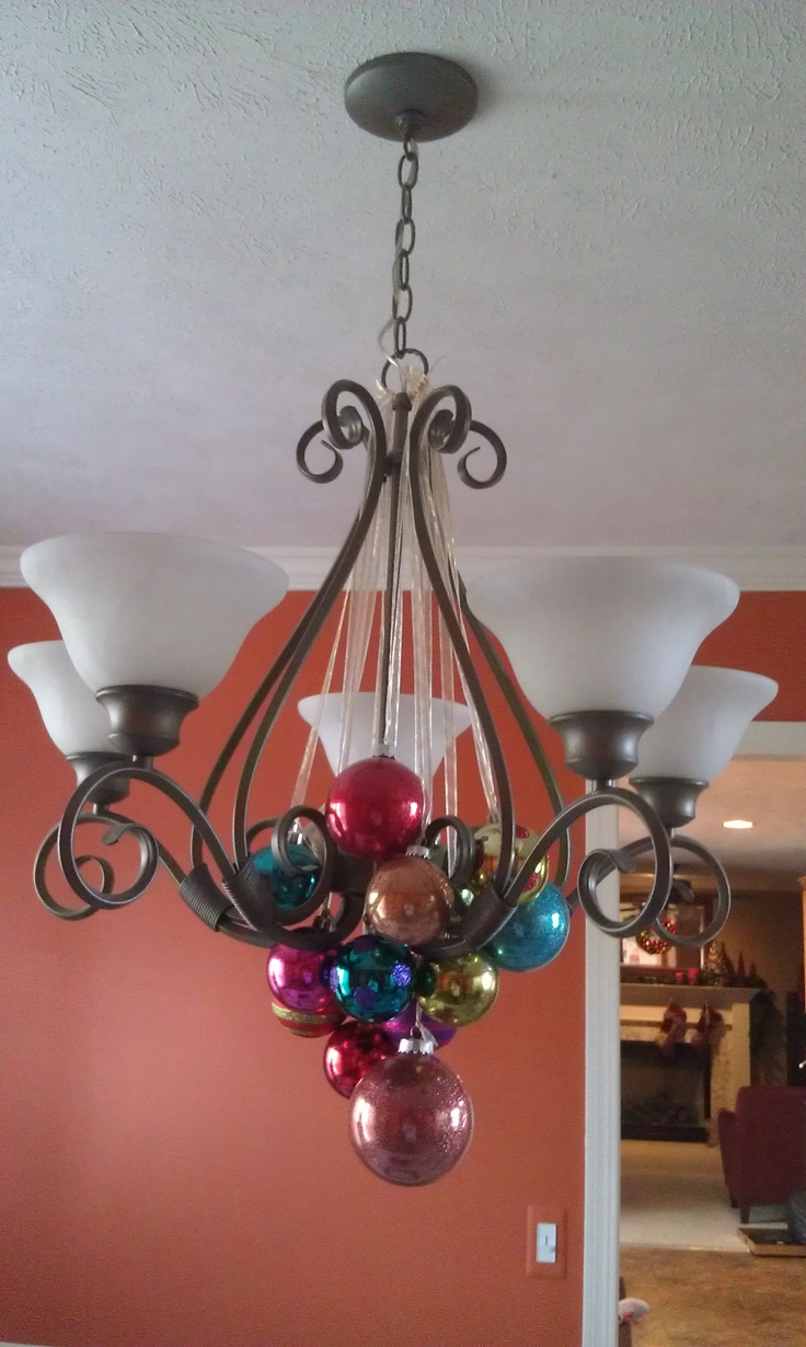 Decorating Ideas > Ornament Chandelier  Decorating For Christmas Winter  ~ 035752_Christmas Decorations Ideas For Chandeliers