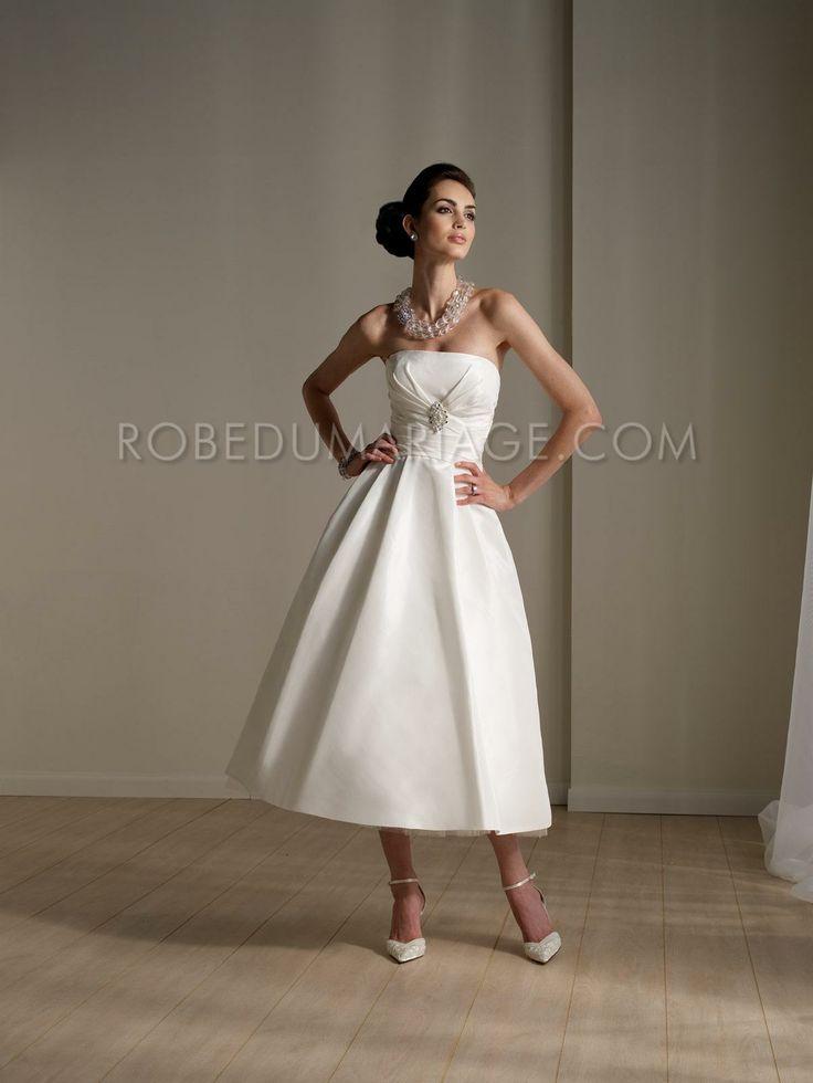 Robe de mariée courte pas cher bustier  robe de mariée  Pinterest