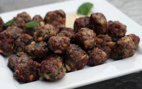 Spiced Lamb Meatballs with Yogurt Sauce - Foodista.com