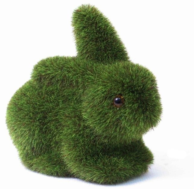 Moss turf green bunny rabbit 3 sweet home decor great for Rabbit decorations home
