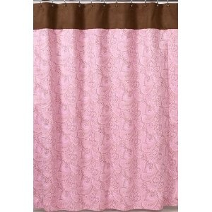 pink and brown shower curtain decor pinterest