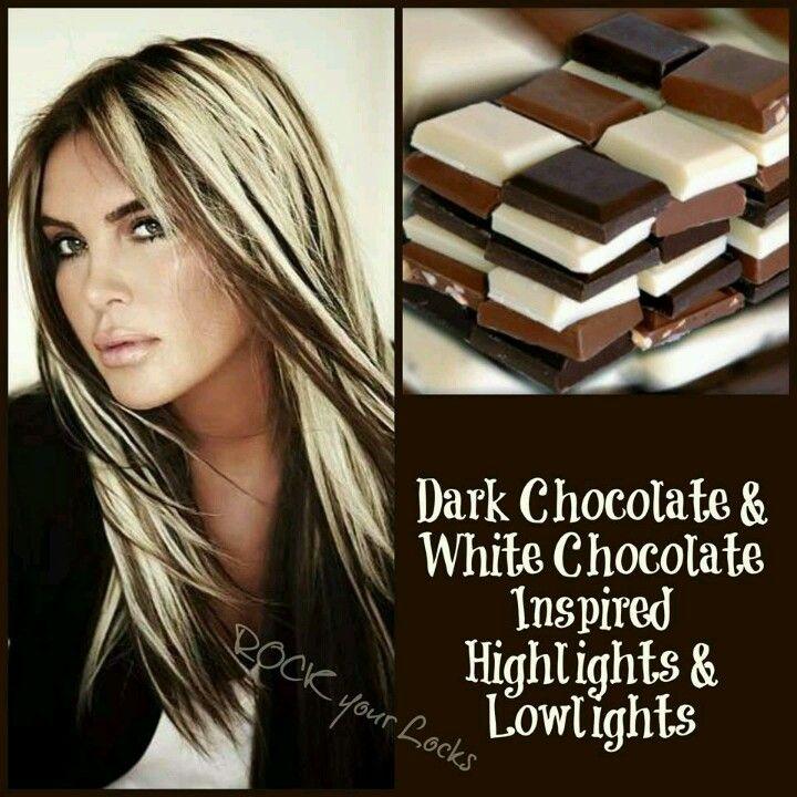 Dark and white chocolate hair!