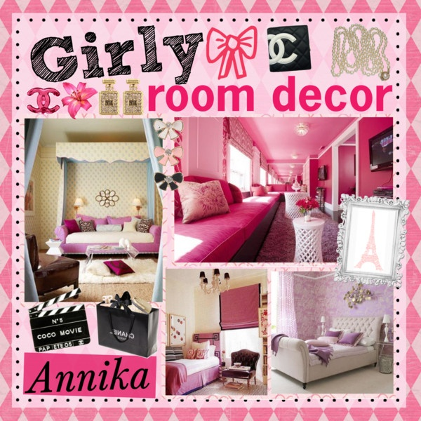 Girly room decor decor pinterest for Girly room decoration