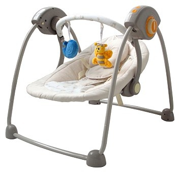 Double baby swing for twins