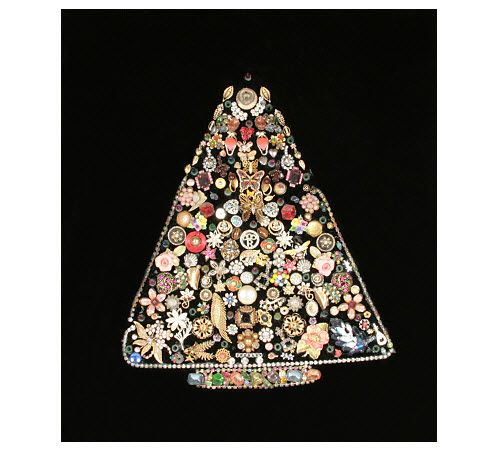 Wall Hanging Christmas Tree With Lights : Vintage Christmas Tree Wall Hanging art Pinterest