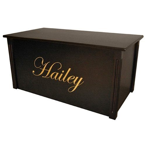 to have it. Wood Creations Espresso Finish Edwardian Lettering Toy Box ...
