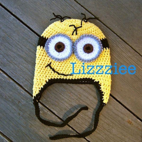 Crochet Minion Beanie Hat Pattern : Minion hat crochet pattern - despicable me - Easy ...