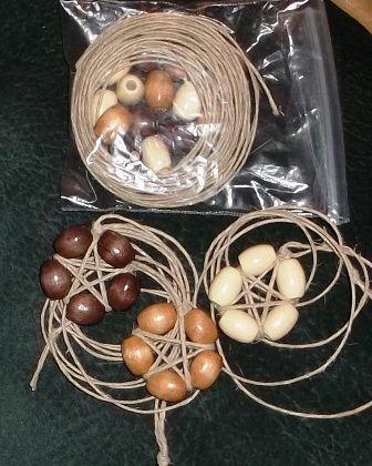 beaded pentacles