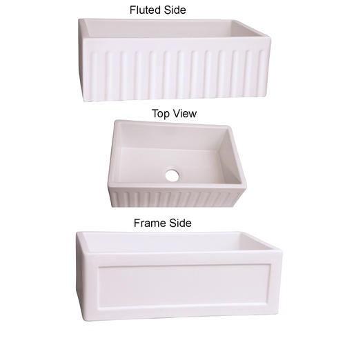 Double Sided Farmhouse Sink : Roberta Double Sided Farm Sink I Dream of Kitchens Pinterest