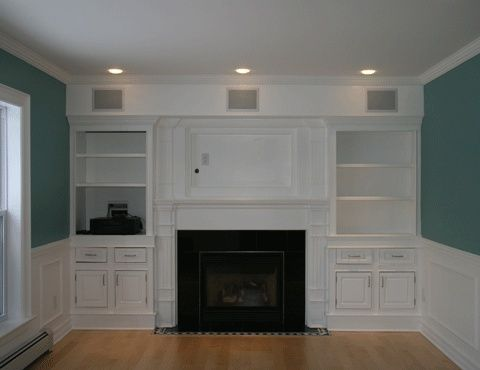 Wall Entertainment Center With Fireplace Dream House Pinterest