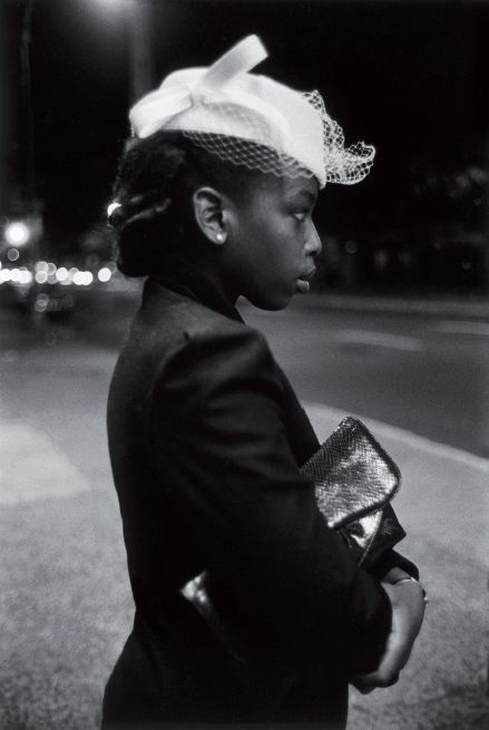 Such a deeply classy, elegant look. Love the netting on the hat. Harlem 1940's by Martin Barrat ~