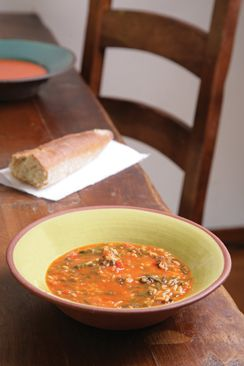 ... brings you the taste of Israel - Tomato Soup with Rice and Swiss Chard