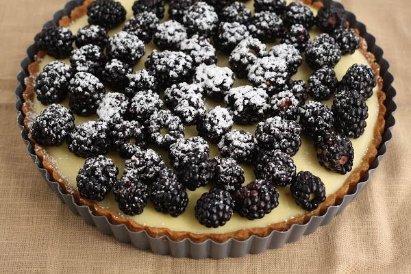 tartine bakery s lemon cream tart with blackberries