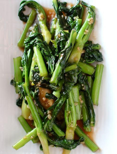 Stir Fried chinese broccoli aka Gai Lan with Garlic & Oyster Sauce